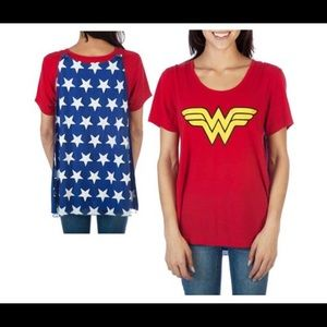 Wonder woman Tee removable Interchangeable Cape